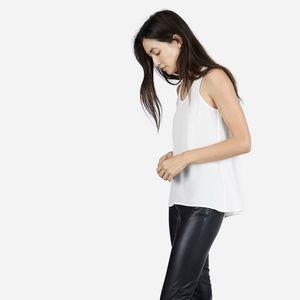 Everlane Silk Tank - White | Size Small